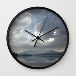 Misty Morning On Long Lake Wall Clock
