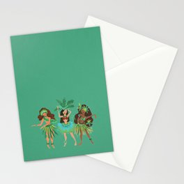 Luau Girls on Mint Stationery Cards
