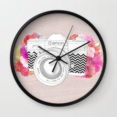 BLOOMING CAN0N Wall Clock