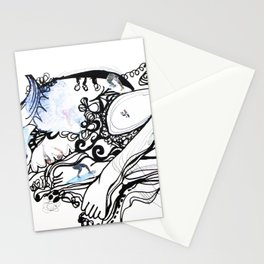 Surfing Feet Stationery Cards
