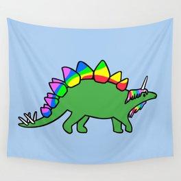 Stegocorn (Unicorn Stegosaurus) Wall Tapestry