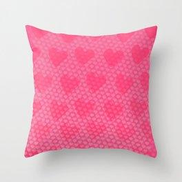 Pink Designer Princess Heart Throw Pillow