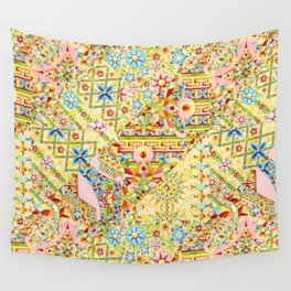 Sunshine Crazy Quilt (printed) Wall Tapestry
