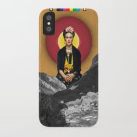 frida iPhone & iPod Cases featuring FRIDA by Estera Lazowska