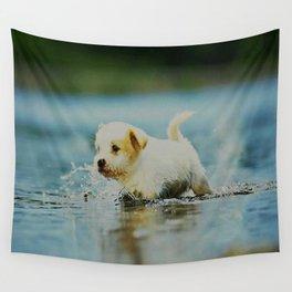 Splish - Splash, puddles are fun Wall Tapestry
