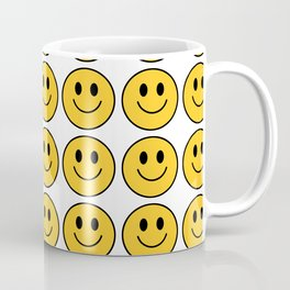 Smiley Face Pattern - White Background Variant Coffee Mug