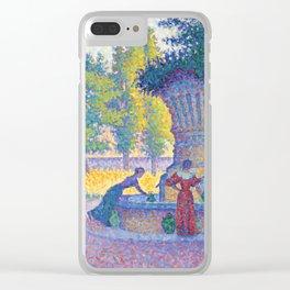 """Paul Signac """"Saint-Tropez, Fontaine des Lices"""" Clear iPhone Case"""