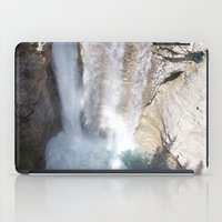 allyson johnson iPad Cases featuring Johnson Canyon Waterfall by RMK Photography