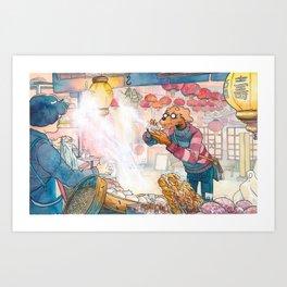 Cold In Yokohama 05 Art Print