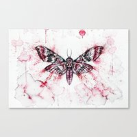 moth Canvas Prints featuring Moth by Nika Akin