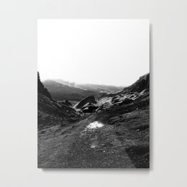 Quiraing in Black and White Metal Print