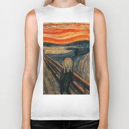 The Scream by Edvard Munch Biker Tank