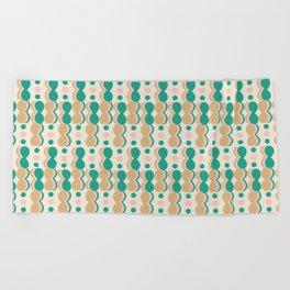 Uende Cactus - Geometric and bold retro shapes Beach Towel
