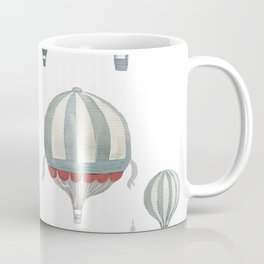 Air balloons and Moscow red squere Coffee Mug