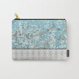 Urban Grunge Turquoise Cement Snake Skin Tile Carry-All Pouch
