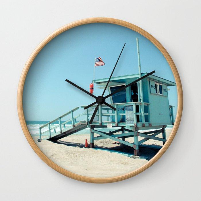 Rosecrans Tower in Manhattan Beach (El Porto) Wall Clock