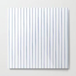 Blue Watercolour Stripes Metal Print