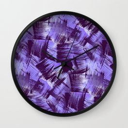 Purple Paint Strokes Wall Clock