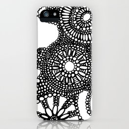 graphic dots pattern iPhone Case