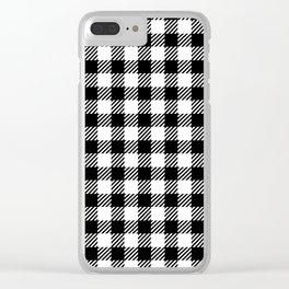 Black & White Vichy Clear iPhone Case
