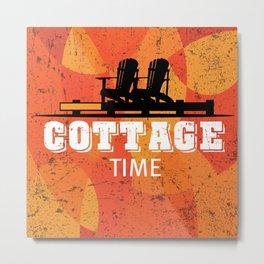 Cottage Time Metal Print
