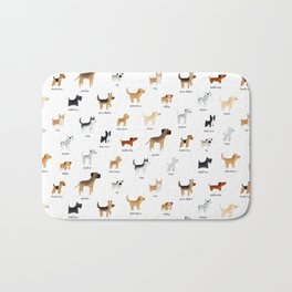 Lots of Cute Doggos - With Names Bath Mat