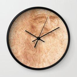 Classic Art - Leonardo da Vinci by Leonardo da Vinci Wall Clock