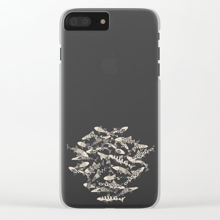 shark party biscuit Clear iPhone Case