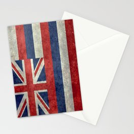 The State flag of Hawaii - Vintage version Stationery Cards