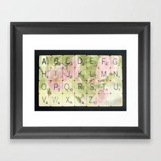 Vintage Scrabble Alphabet Framed Art Print