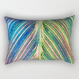 503 - Canna Leaf Abstract Rectangular Pillow