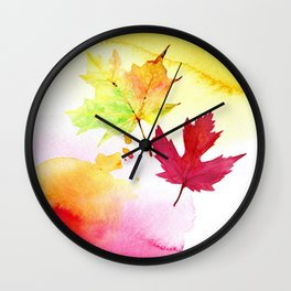 Colors of the fall Wall Clock