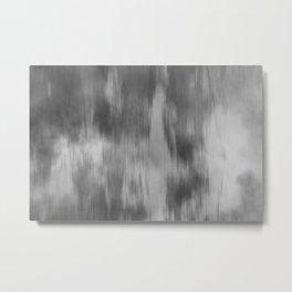 Smokey Mist (Gray) Illustration, Digital Watercolor Camo Blend - Fluid Art Metal Print