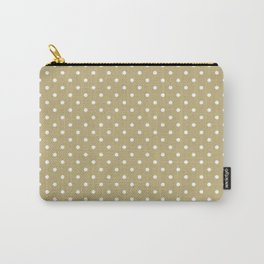 Dots (White/Sand) Carry-All Pouch