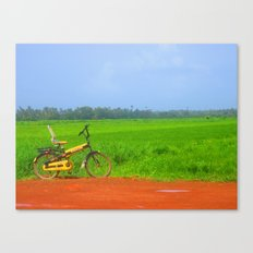 a ride in greenlush Canvas Print