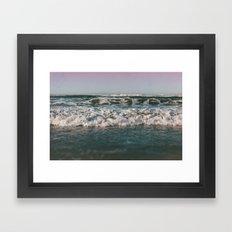 Ocean Crash Framed Art Print