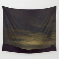 starry night Wall Tapestries featuring Starry Night by Ashley Callan