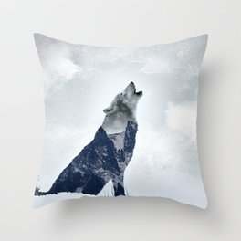 Wolf. Into the Wilderness Throw Pillow