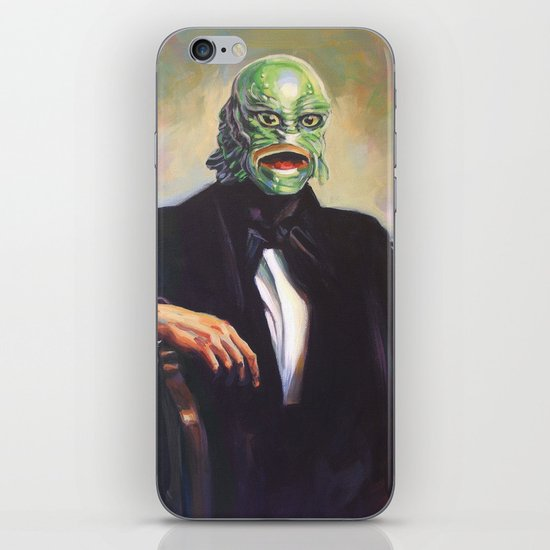 Portrait of Monsieur Gills iPhone & iPod Skin