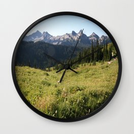 Mountain Meadow Wall Clock