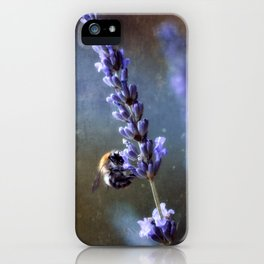 Bumblebee and lavender iPhone Case
