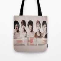 one direction Tote Bags featuring One Direction by store2u