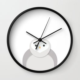 Snow Owl Portrait Wall Clock
