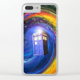 Tardis Doctor Who Fly into Time Vortex Clear iPhone Case