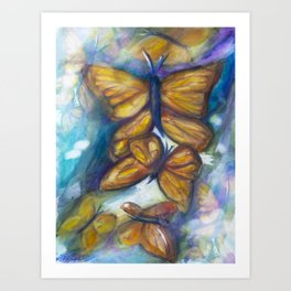 Shaded Wings Art Print
