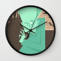 vampire Wall Clocks featuring Vampire by 5wingerone