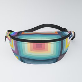 Colorful Patchwork Pattern Fanny Pack