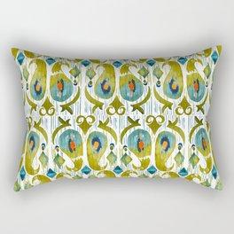 indian cucumbers balinese ikat print mini Rectangular Pillow