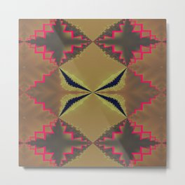 Pinkbrown(blue) Pattern 8 Metal Print