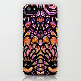 Maximalist Interlocked Colorful Design  iPhone Case
